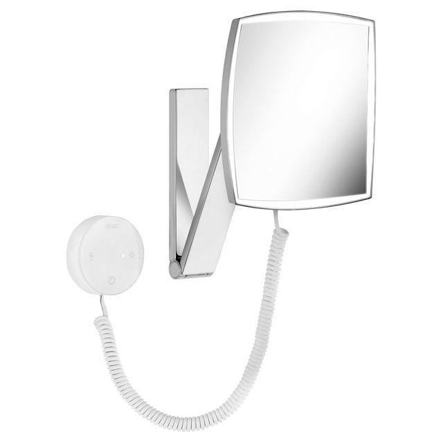 Keuco iLook_move Kosmetikspiegel beleuchtet Glasbedienfeld an Schwenkarm 17613019000
