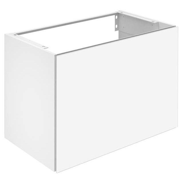 Keuco X-LINE Waschtischunterschrank mit 1 Auszug B:80xH:60,5xT:49 cm Front: Glas weiß Korpus: weiß matt 33162300000
