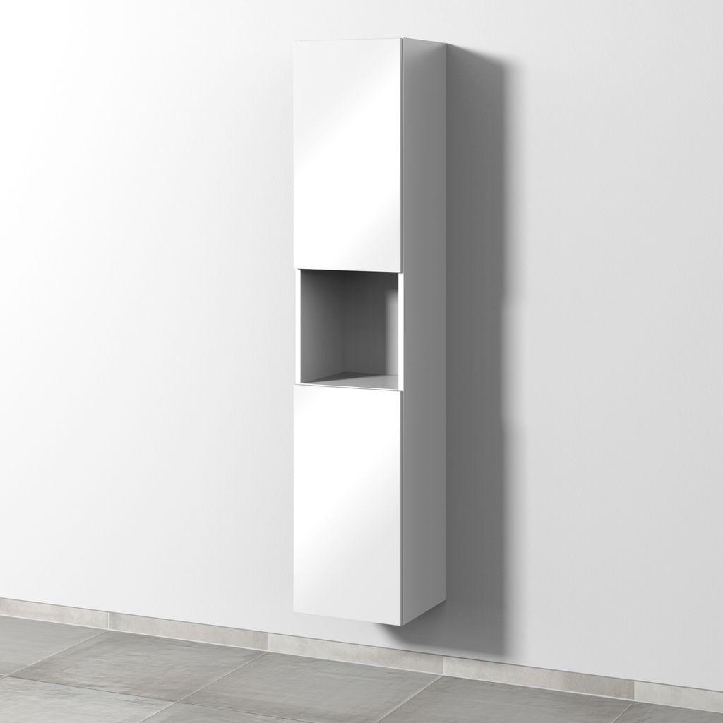 Sanipa 3way Hochschrank links 2 Türen Push to open L:170xB:35xT:34,5cm Weiß-Soft SM11443