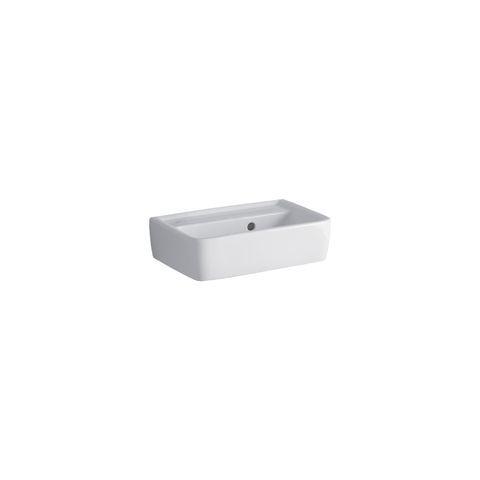 Geberit Keramag Renova Plan Handwaschbecken B:45xT:32cm ohne Hahnloch mit Überlauf weiß mit KeraTect 272148600