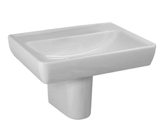 Laufen Pro Waschtisch B:60xT:48cm 1 Hahnloch mittig mit Überlauf weiß H8189520001041