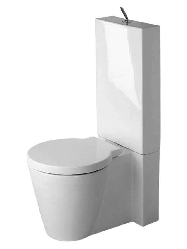 Duravit Starck 1 Tiefspül-Stand-WC für Aufsatzspülkasten L:64xB:41,5cm weiß mit Wondergliss 02330900641