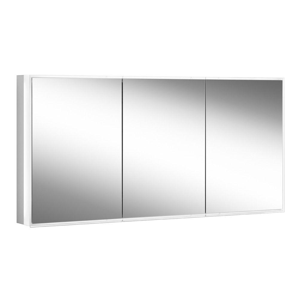 Schneider Spiegelschrank PREMIUM Line Superior 150/3/GT/TW B:152,5xH:73,6xT:16,7cm mit Beleuchtung mit Kosmetikspiegel eloxiert 181.151.02.50