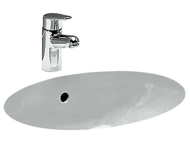 Laufen Birova Einbauwaschtisch B:49,5xT:35,5cm ohne Hahnloch mit Überlauf Montage von unten weiß H8111910000001