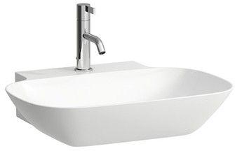 Laufen INO Möbel-Waschtisch ohne Hahnloch mit Überlauf B:56xT:45cm weiß mit CleanCoat LCC H8103024001091