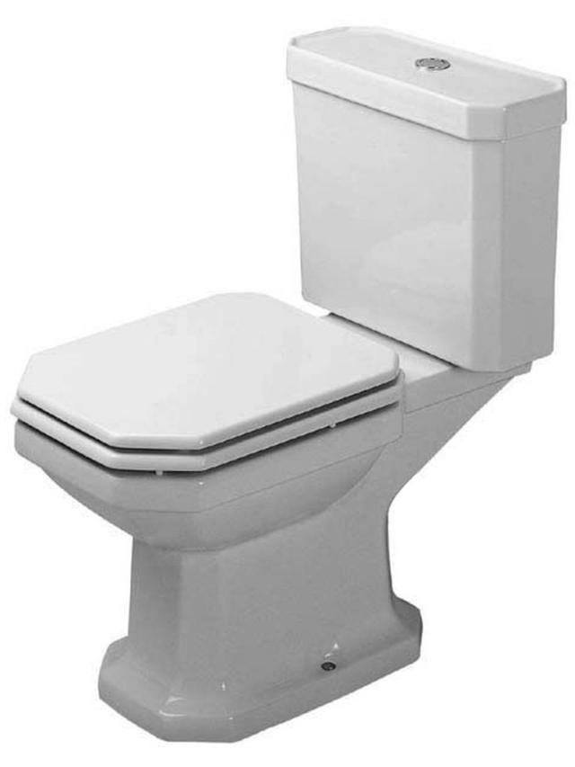 Duravit 1930 Tiefspül-Stand-WC für Aufsatzspülkasten L:66,5xB:35,5cm weiß mit Wondergliss 02270900001