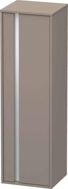 Duravit Ketho Hochschrank B:40xH:132xT:36cm 1 Tür Türanschlag rechts basalt matt KT1257R4343