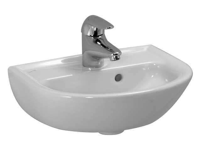 Laufen Pro Handwaschbecken B:40xT:32cm 1 Hahnloch mittig mit Überlauf weiß H8159510001041