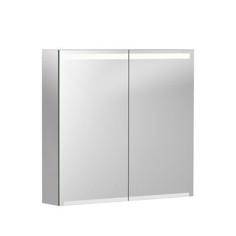 Geberit Keramag Option Spiegelschrank B:75 x H:70 x T:15 cm Korpus: weiß matt-verspiegelt, Front: verspiegelt 500205001