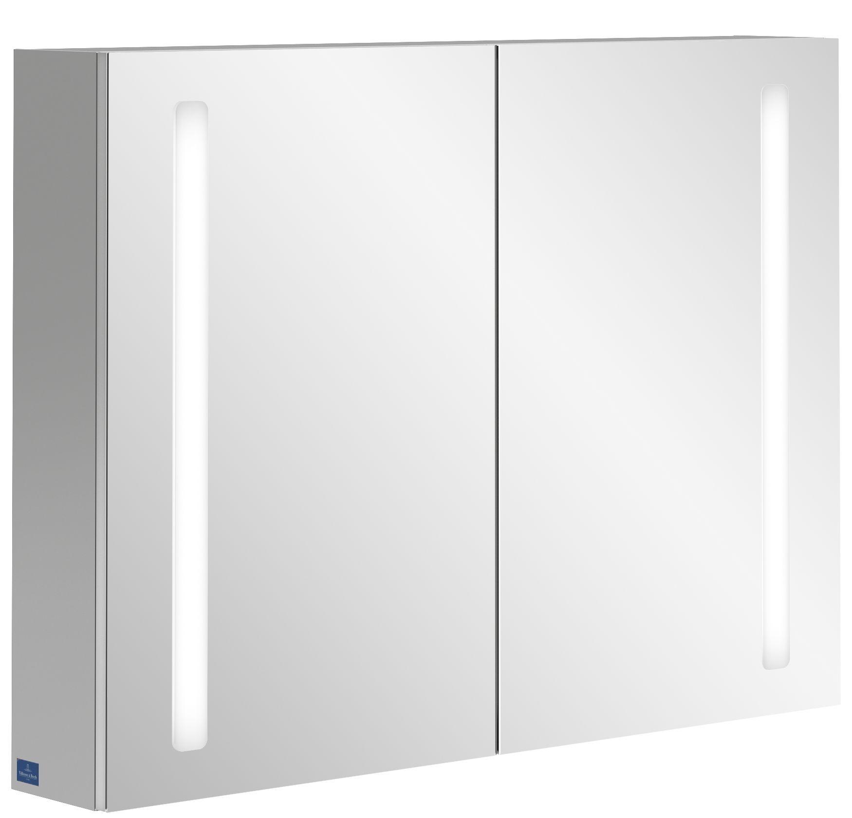 Villeroy & Boch My View 14+ Spiegelschrank mit integrierter LED Beleuchtung B:100xH:75xT:17,3cm A4331000