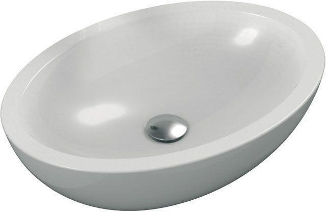 Ideal Standard Strada Schalenwaschtisch oval B:60xT:42xH:16cm ohne Hahnloch ohne Überlauf weiß mit Ideal Plus K0784MA