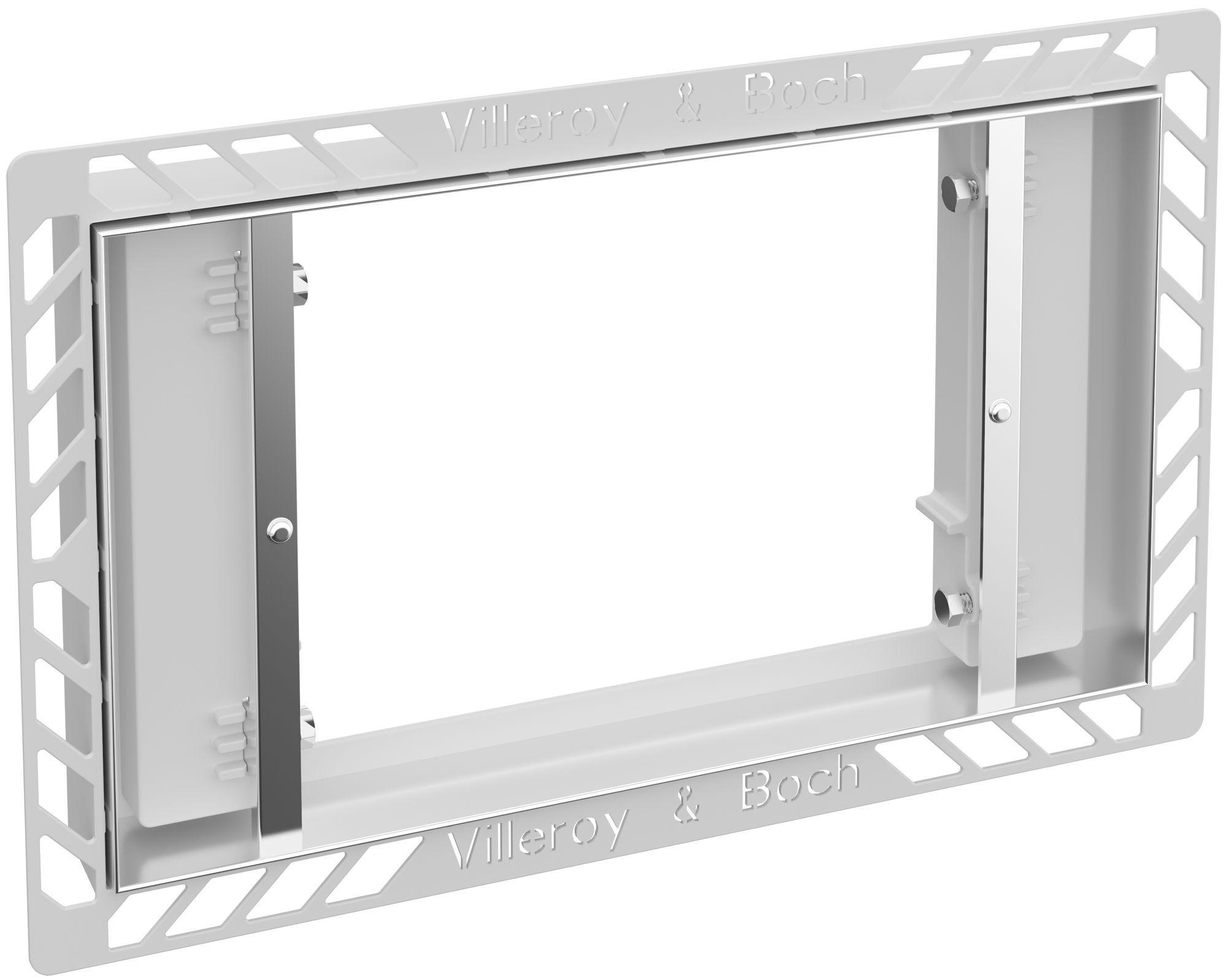 Villeroy & Boch ViConnect Einbauset flächenbündig B:29,5xT:18,6cm Edelstahl 922159LC