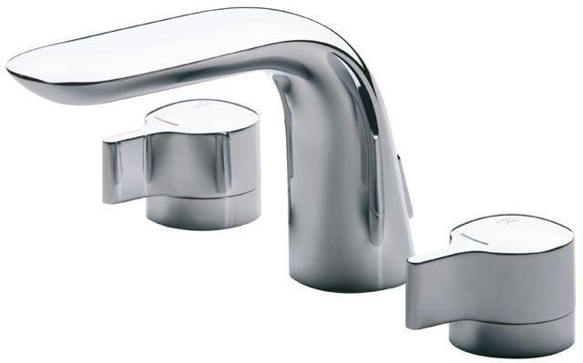 Ideal Standard Melange Zweigriff-Waschtischarmatur 3-Loch mit Ablaufgarnitur chrom A4288AA