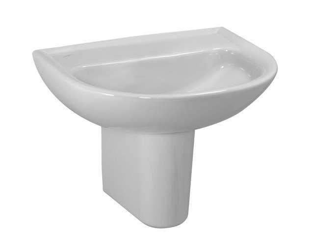 Laufen Pro Waschtisch B:60xT:48cm 1 Hahnloch mittig mit Überlauf weiß mit CleanCoat LCC H8109524001041