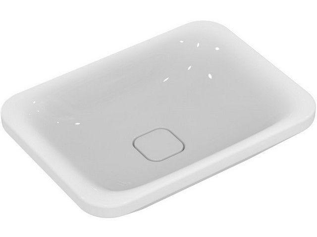Ideal Standard Tonic II Schalenwaschtisch B:55xT:40xH:15cm ohne Hahnloch ohne Überlauf weiß K083401