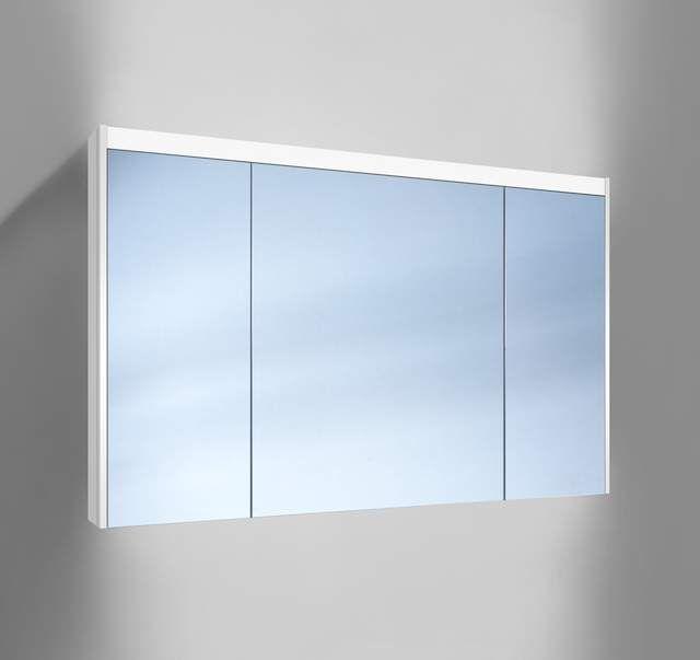 Schneider O-Line LED Spiegelschrank B:120xH:74,5xT:12,8cm 3 Türen weiß 164.121.02.02