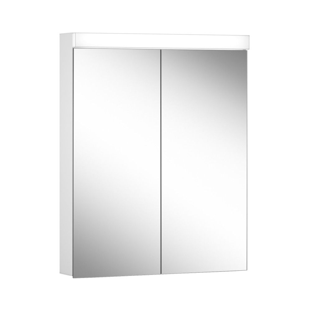 Schneider Spiegelschrank DAILY Line Ultimate 60/2/TW/L B:60xH:74,8xT:12cm mit Beleuchtung weiß 178.063.02.02