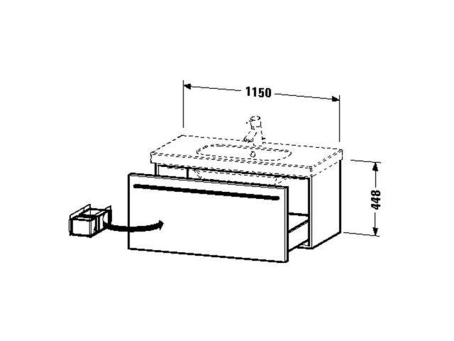 Duravit X-Large Waschtischunterschrank wandhängend B:115xH:44,8xT:45,8cm 1 Auszug weiß hochglanz XL605002222