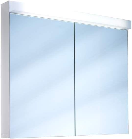 Schneider Lowline LED Spiegelschrank B:80xH:77xT:12cm 2 Türen weiß 151.280.02.02