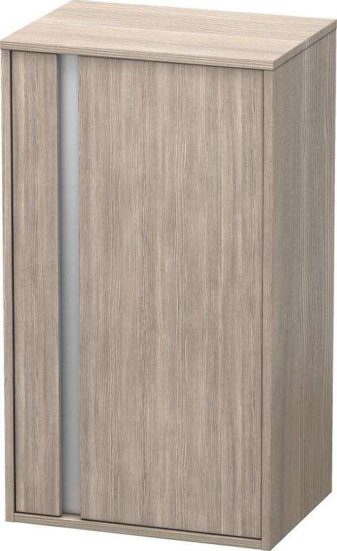 Duravit Ketho Halbhochschrank B:50xH:88xT:36cm 1 Tür Türanschlag rechts pine silver KT1266R3131