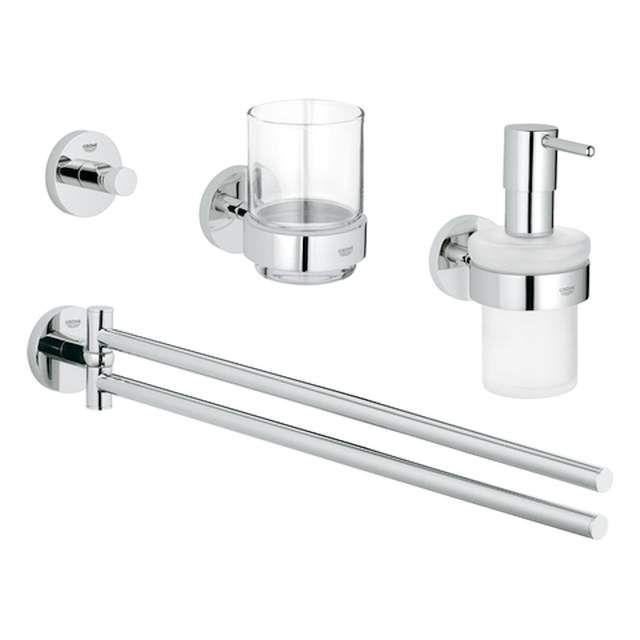 Grohe Essentials Waschtisch-Set 4 in 1 chrom 40846001