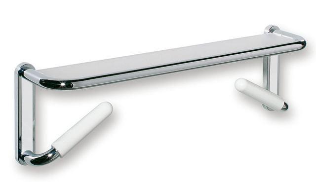 HEWI Spiegelablage LifeSystem mit Haltegriffen White Edition Reinweiß 802.03.W100 99