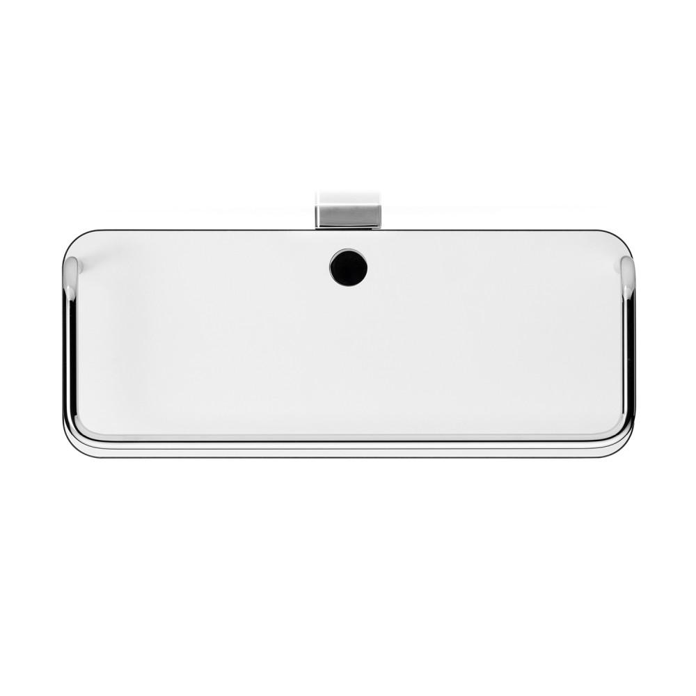 Giese Dusch Konsole mit hoher Reling und Glasabzieher Kompaktschichtstoffboden weiß 21023-02