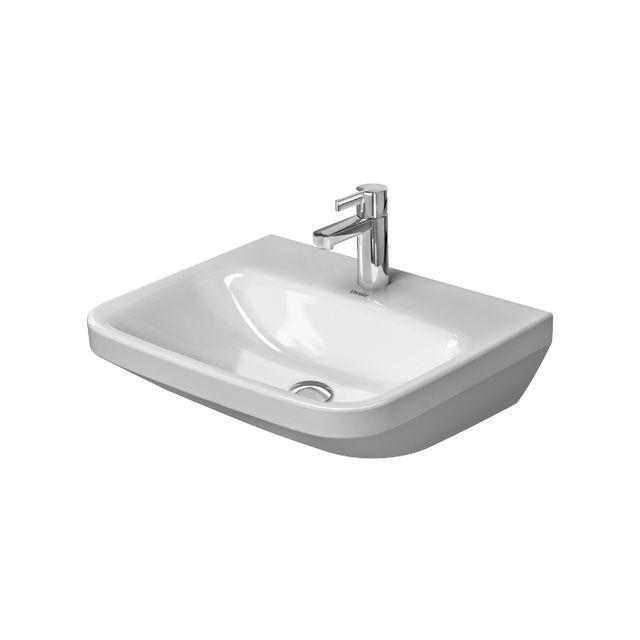 Duravit DuraStyle Waschtisch B:55cm 3 Hahnlöcher ohne Überlauf weiß mit Wondergliss 23245500701
