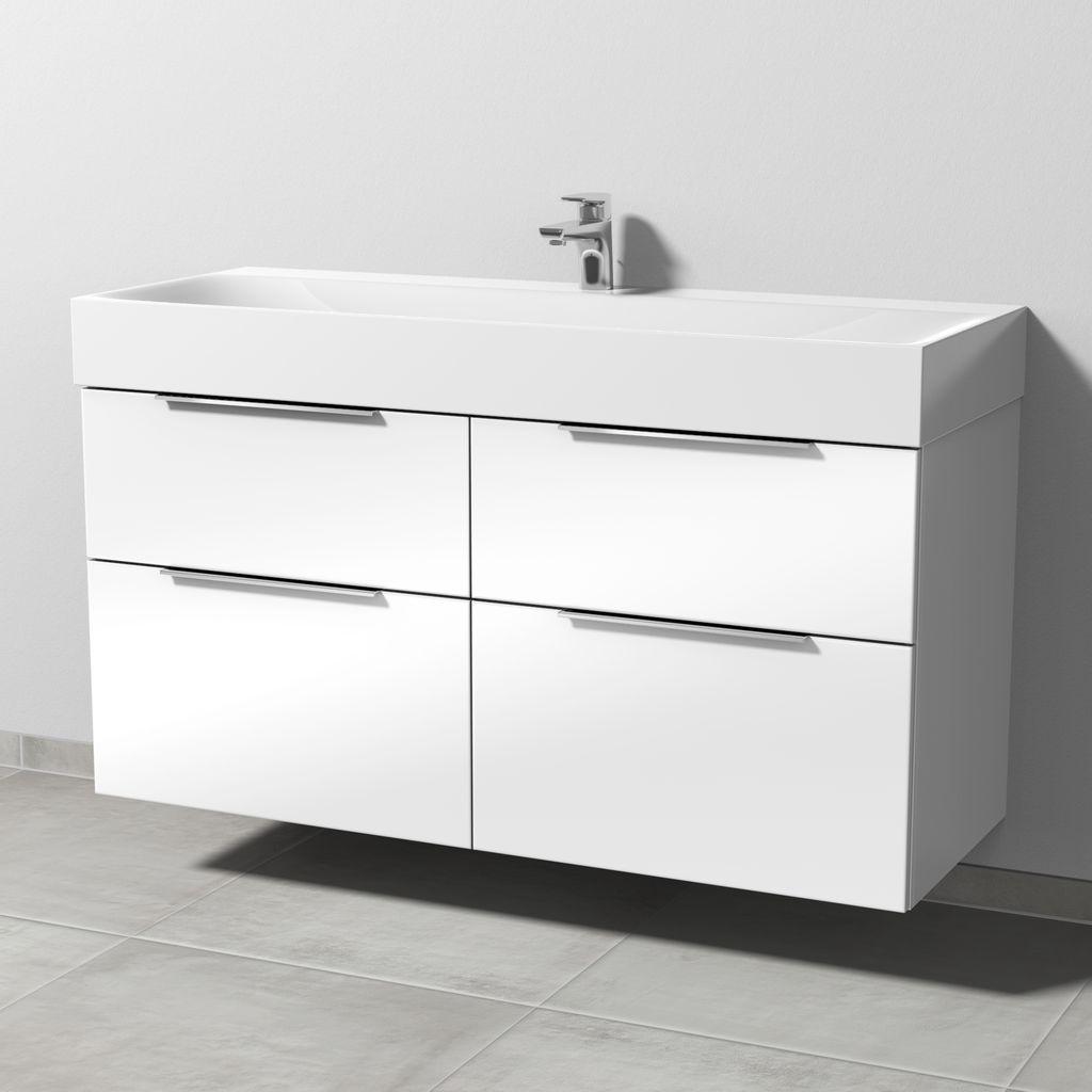 Sanipa 3way Waschtischunterbau mit Auszügen (UM457) H:58,2xB:119xT:45,2cm Kirsche-Natural-Touch UM45736