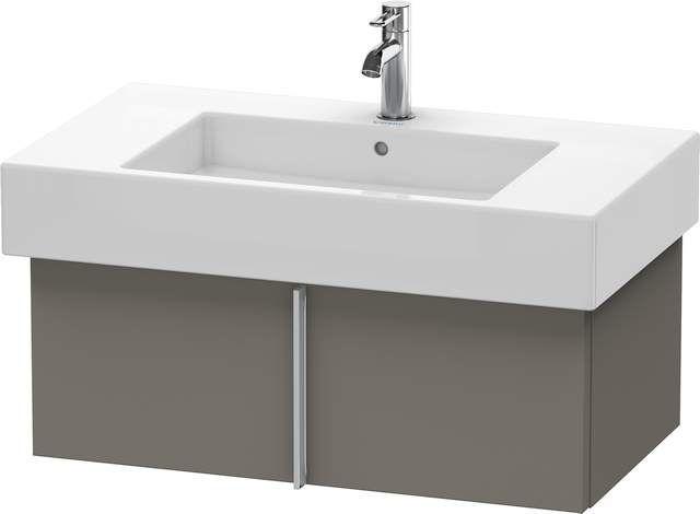 Duravit Vero Waschtischunterschrank wandhängend für 032985 B:80xH:29,8xT:44,6cm 1 Auszug flannel grey seidenmatt VE611309090