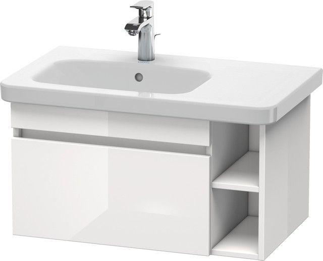 Duravit DuraStyle Waschtischunterbau wandhängend 448x730x398 1 Auszug kastanie dunkel/ weiß matt DS639405318