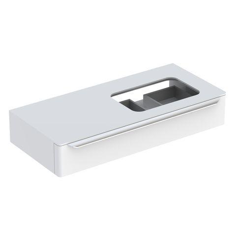 Geberit Keramag myDay Waschtischunterschrank mit 1 Auszug mit LED-Beleuchtung Hahnloch rechts mit LED-Beleuchtung B:1150xT:520xH:200mm weiß hochglanz 824160000