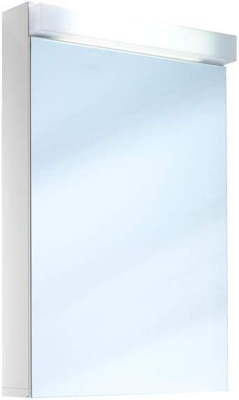 Schneider Lowline Spiegelschrank B:50xH:77xT:12cm 1 Tür Anschlag wählbar weiß 151.050.02.02