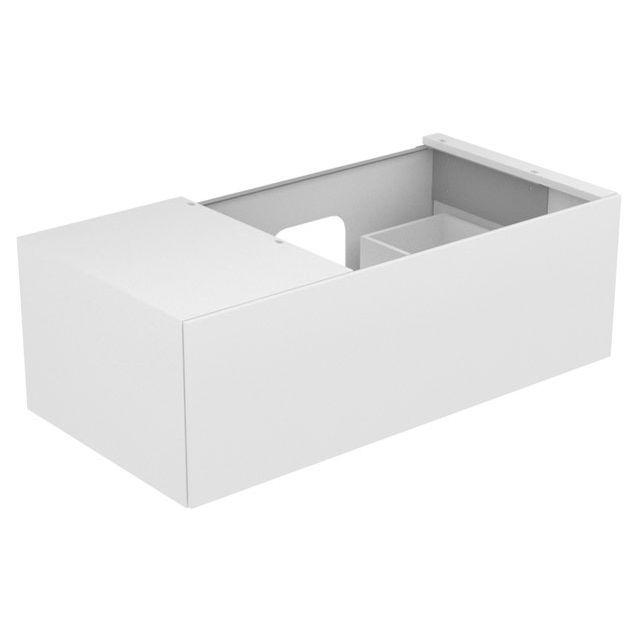 Keuco Edition 11 Waschtischunterbau 1 Frontauszug Ablage links weiß/Glas weiß 31154300000