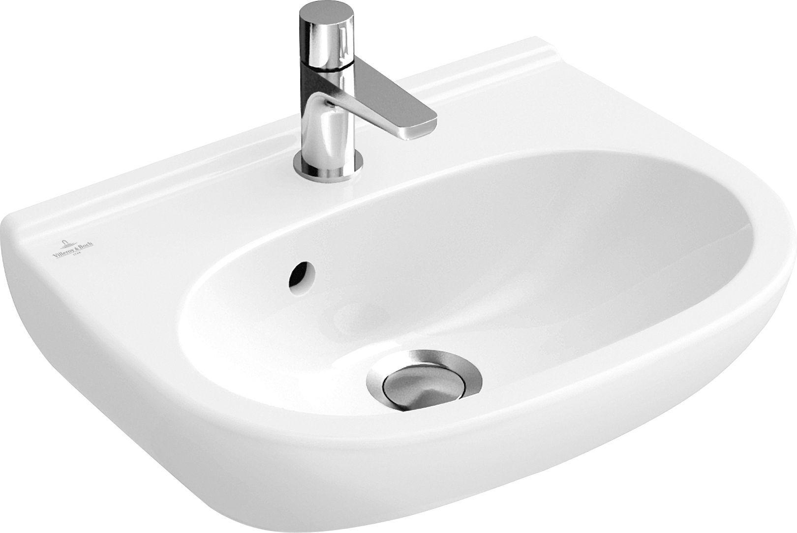 Villeroy & Boch O.novo Handwaschbecken B:36xT:27,5cm 1 Hahnloch ohne Überlauf weiß mit Ceramicplus 536037R1
