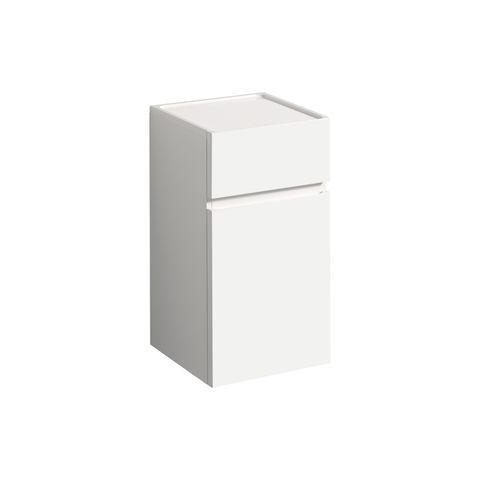Geberit Keramag Renova Plan Seitenschrank mit 1 Schublade und 1 Tür Türanschlag wählbar B:390xT:360xH:700mm weiß hochglanz 869020000