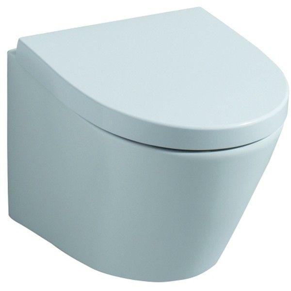 Geberit Keramag Flow WC-Sitz mit Absenkautomatik weiß, Scharniere Messing verchromt 575950000