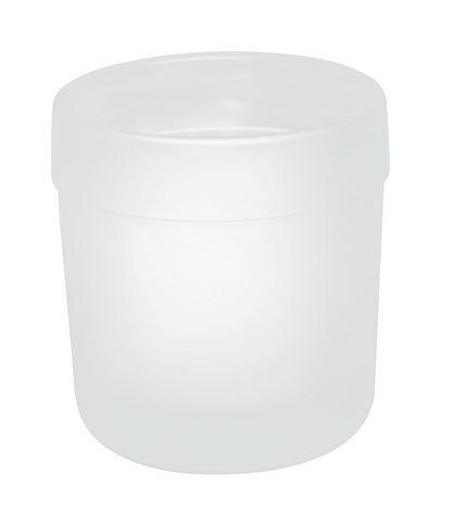 HEWI Glasbecher Serie 477 flachbodig matt weiß 477.04.020 05