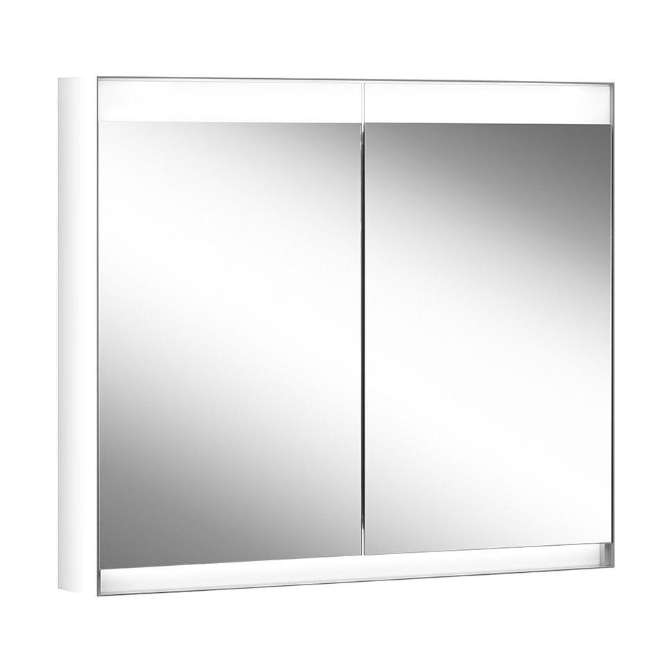 Schneider Spiegelschrank ADVANCED Line Superior 100/2/HCL B:120xH:76xT:15cm mit Beleuchtung mit Kosmetikspiegel grau 180.100.02.04