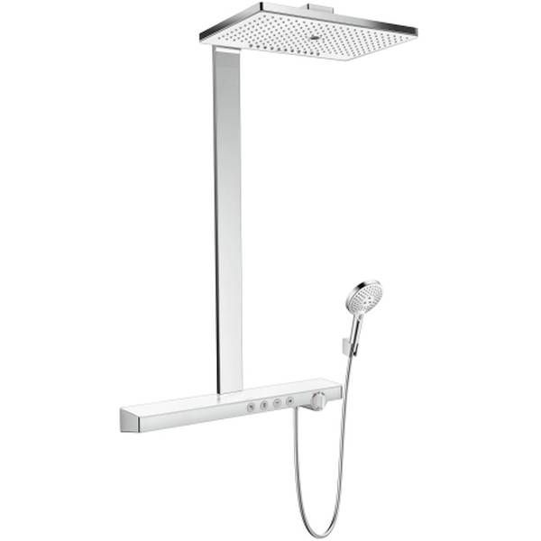Hansgrohe Rainmaker Select 460 3jet Showerpipe EcoSmart 9 l/min weiß chrom 27029400