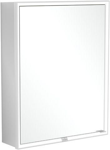 Villeroy & Boch My View Now Einbau-Spiegelschrank B:60xH:75xL:16,8 cm mit LED-Beleuchtung mit 1 Tür mit 2 Steckdosen innnen Smart Home fähig zur Montage vor der Wand Aluminium A4586L00