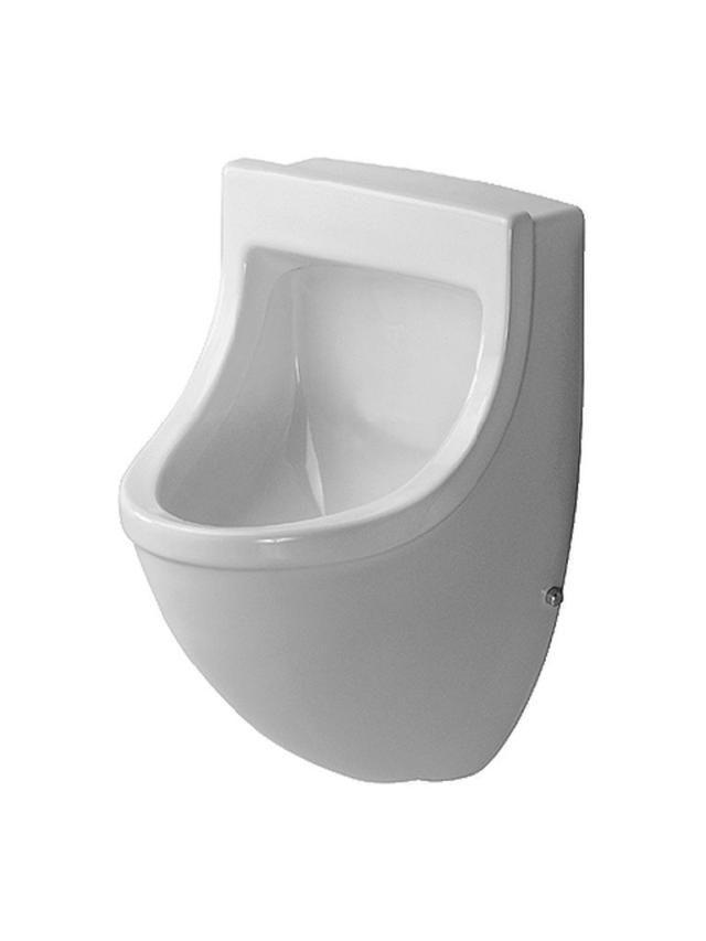 Duravit Starck 3 Urinal ohne Deckel Zulauf von hinten B:35xH:57,5xT:35cm weiß mit Wondergliss 08213500001