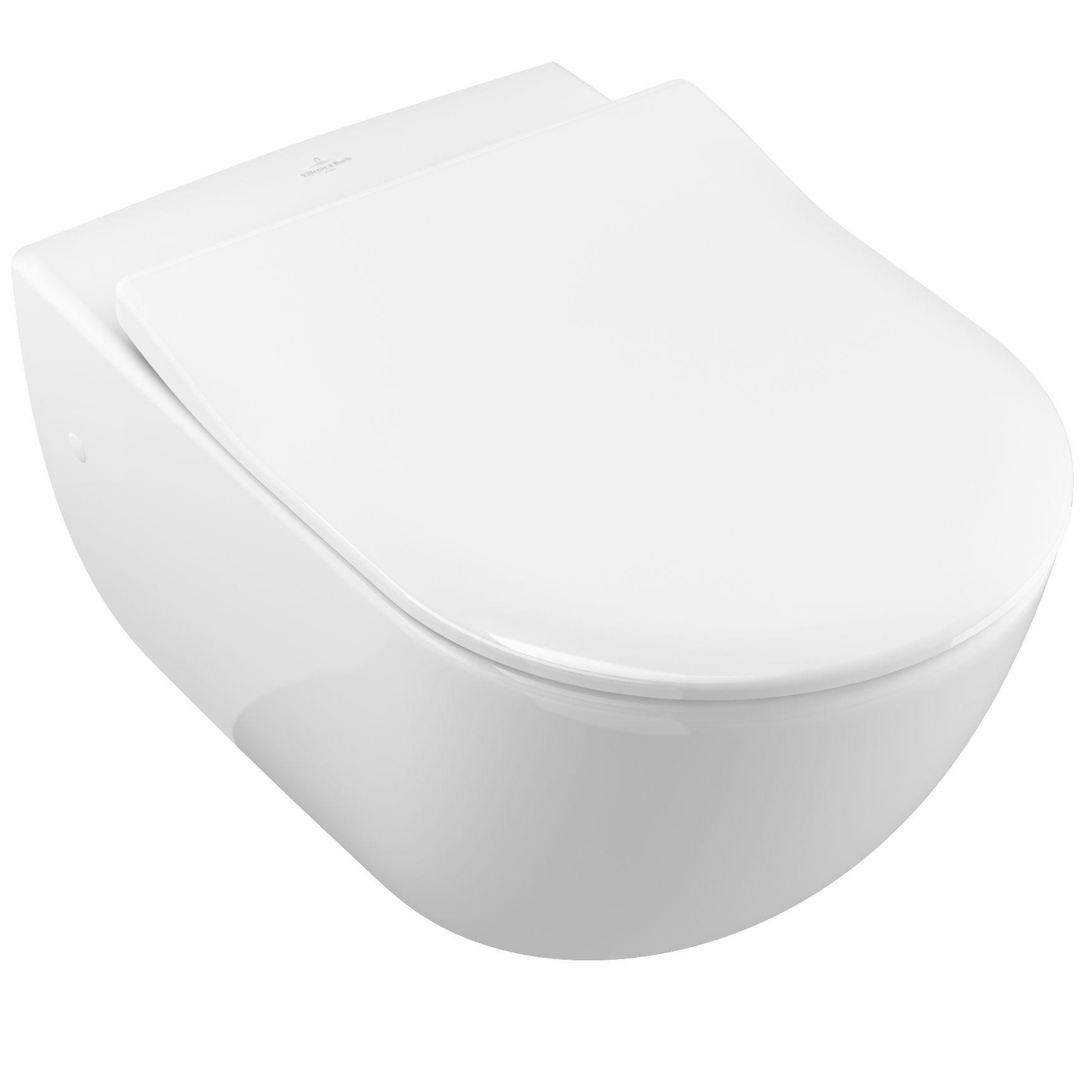 Villeroy & Boch Subway Tiefspül-Wand-WC L:56,5xB:37,5cm Star White mit Ceramicplus 660010R2