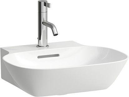 Laufen INO Handwaschbecken mit einem Hahnloch mit Überlauf B:45xT:41cm weiß H8153010001041