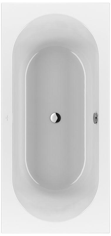 Villeroy & Boch Loop & Friends Duo Rechteck-Badewanne UBA199LFO2V-01 900x1900mm weiß mit ovaler Innenform