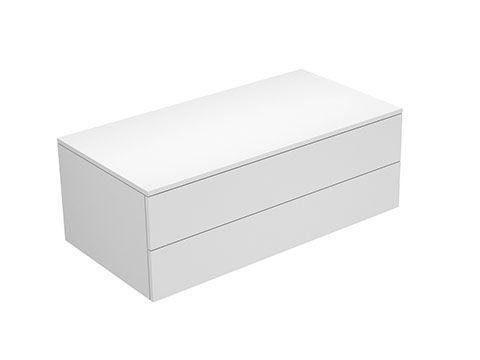 Keuco Edition 400 Sideboard wandhängend 2 Frontauszüge 1050 x 382 x 535 mm titan/Glas titan satiniert 31752160000