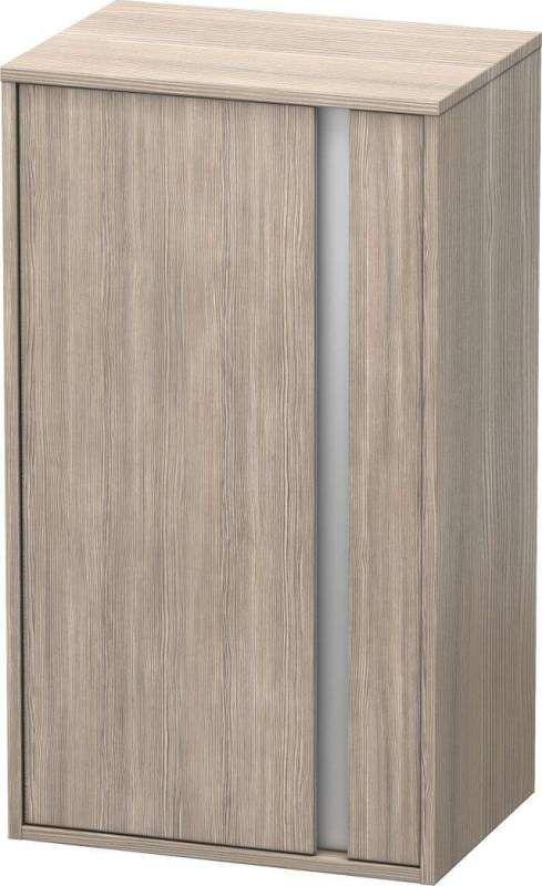 Duravit Ketho Halbhochschrank B:50xH:88xT:36cm 1 Tür Türanschlag links pine silver KT1266L3131