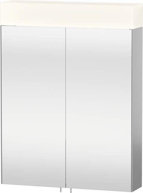 Duravit Vero Spiegelschrank mit Beleuchtung B:60xH:14,2xT:80cm 2 Spiegeltüren verspiegelt VE750100000