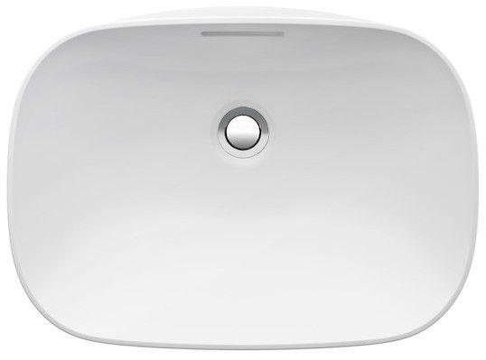 Laufen INO Einbauwaschtisch ohne Hahnloch mit Überlauf B:50xT:36,5cm weiß mit CleanCoat LCC H8173024001091