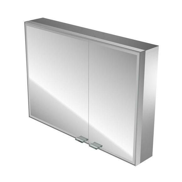 Emco Asis Prestige Lichtspiegelschrank ohne Radio 989706045, Aufputz, Breite 987 mm, breite Tür links